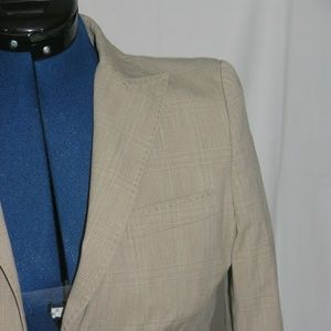 D&G Dolce & Gabbana Cotton Blend One Button Suit